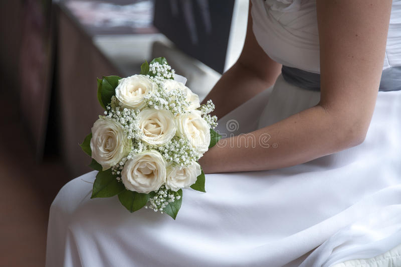 Download Bride and bouquet stock image. Image of person, event - 27107151