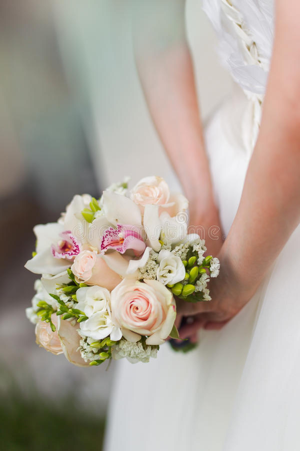Download Bride Bouquet stock photo. Image of rose, marriage, union - 34576324