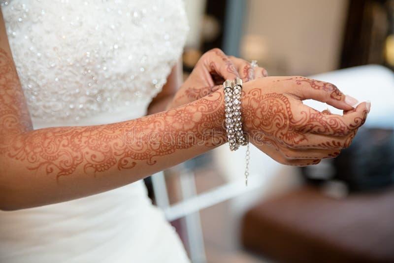 Bride bracelet royalty free stock photo
