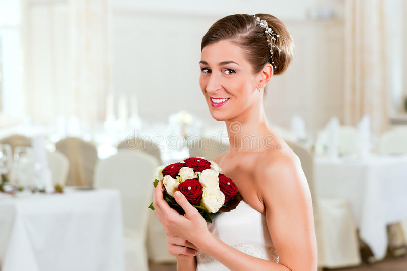 Download Bride with bridal bouquet stock photo. Image of bridal - 18941448