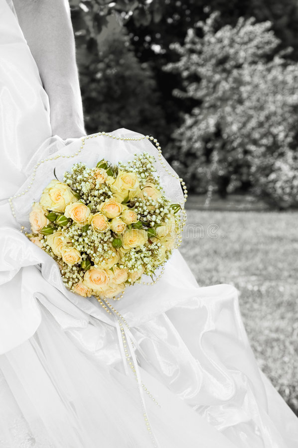 Download Bride With Bridal Bouquet Stock Image - Image: 6770761