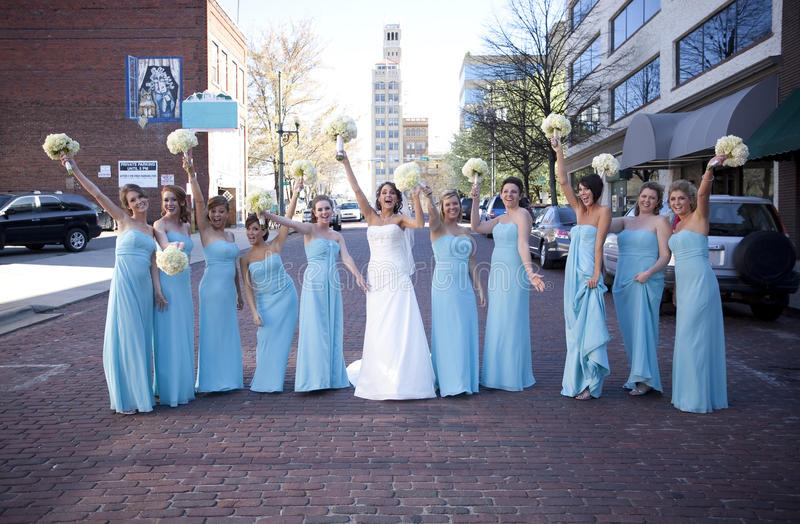 Download Bride and Bridesmaid stock photo. Image of roses, standing - 16584878