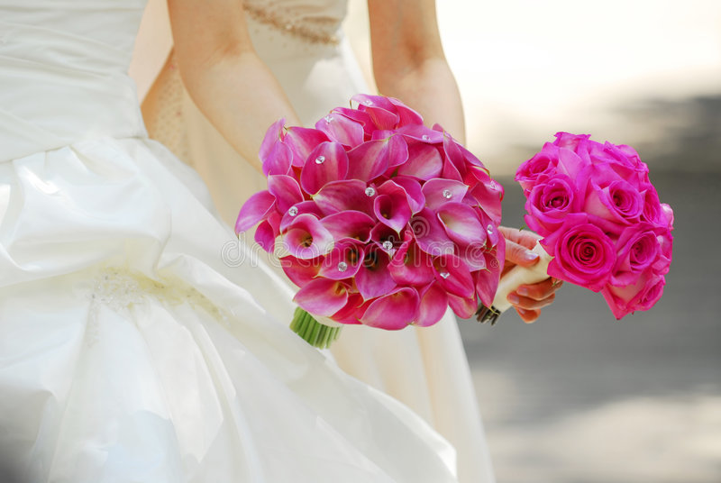 Download Bride and bridesmaid stock image. Image of dress, bouquet - 2854007