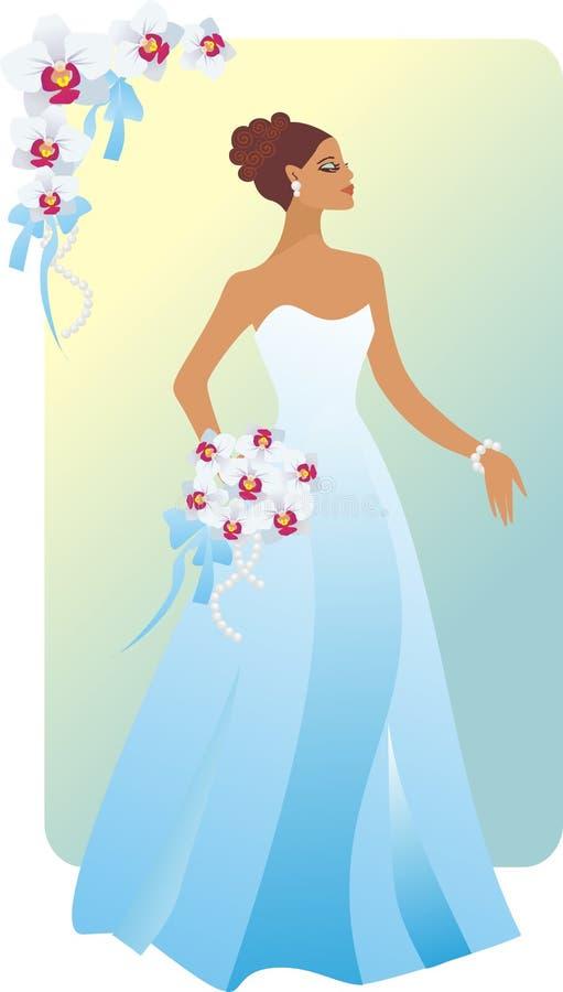 Download Bride brunette stock vector. Illustration of closes, blue - 16146446