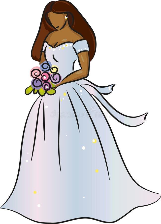 Bride (Brunette) vector illustration