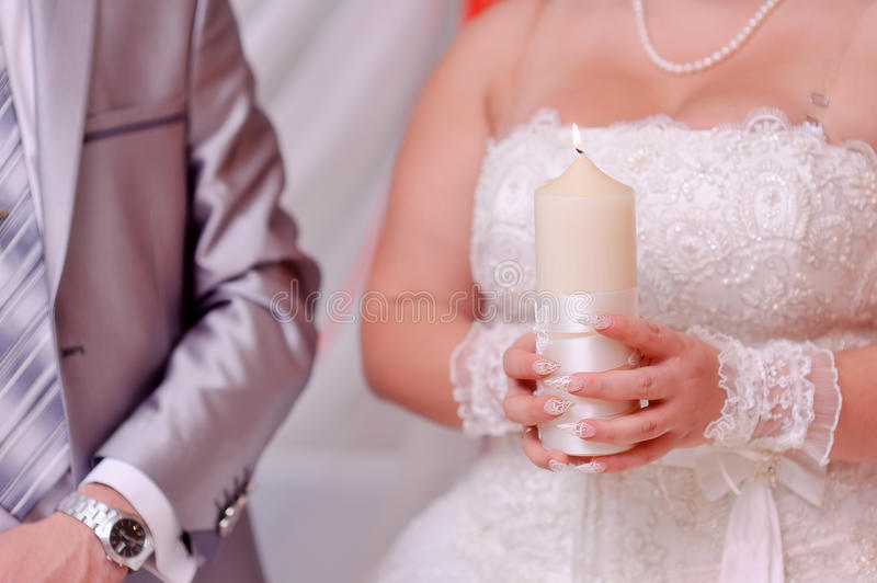 Download Bride and candle stock photo. Image of celebration, love - 27483534