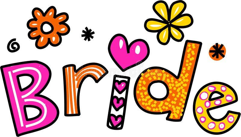 bride clip art stock illustration illustration of text 43718983 rh dreamstime com bride clipart free bridge clip art free