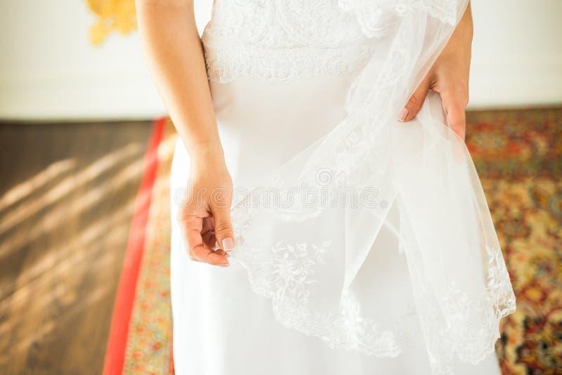 Bride& x27; close-up do véu de s foto de stock royalty free