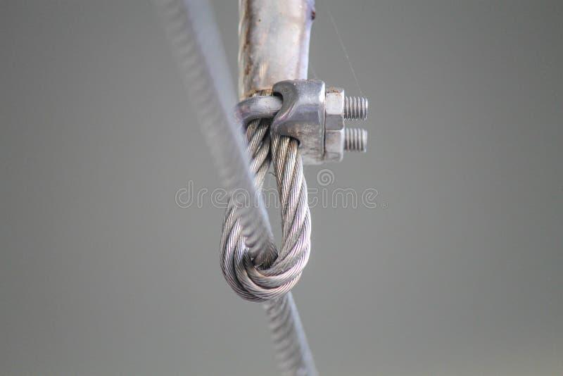 Bride de câble métallique photographie stock libre de droits