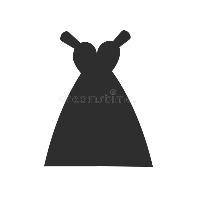 Bride Dress icon vector sign and symbol isolated on white background, Bride Dress logo concept vector illustration