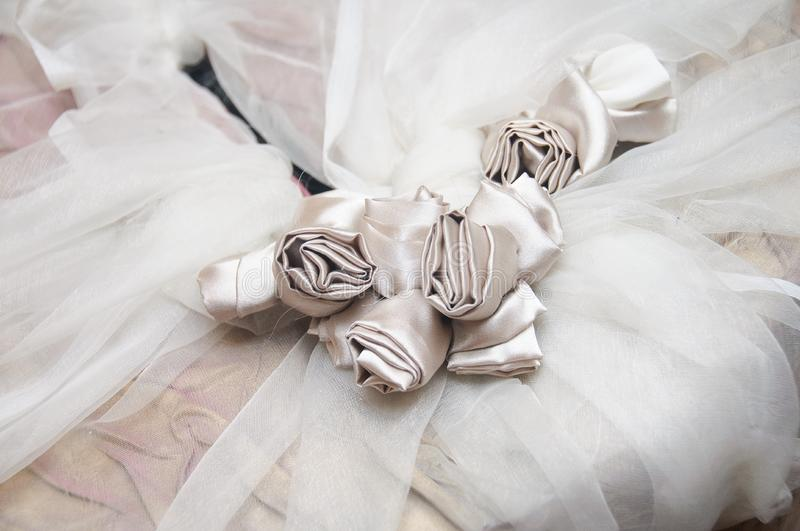 Download Bride Dress With Silk Flowers Stock Photo - Image of bridal, roses: 21634344