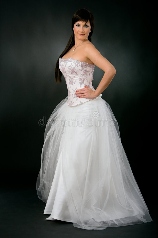 bride dress wedding withe στοκ εικόνα