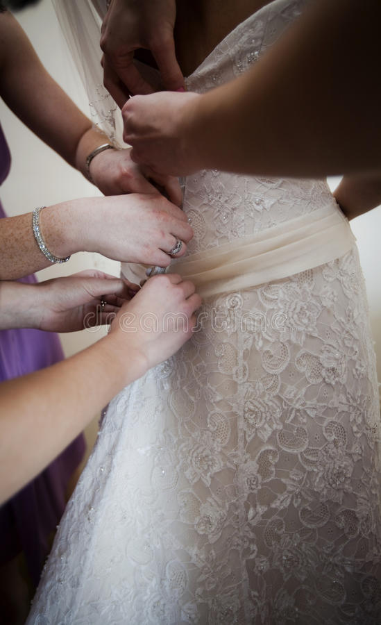 Download Bride dressing stock photo. Image of hands, women, party - 15765130