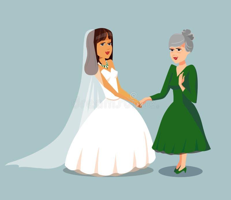 Elderly Mother Daughter Stock Illustrations 1 072 Elderly Mother Daughter Stock Illustrations Vectors Clipart Dreamstime,Davids Bridal Curvy Flattering Plus Size Wedding Dresses