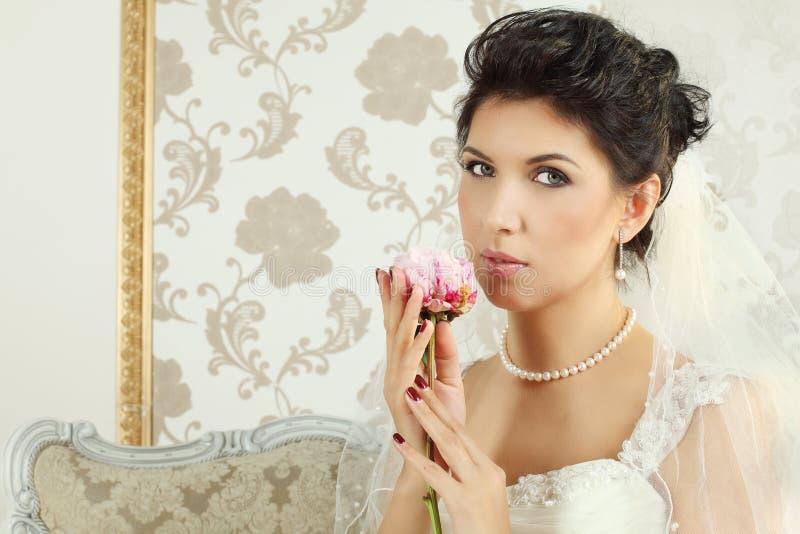 Download Bride, fashion portrait stock photo. Image of interior - 26838670