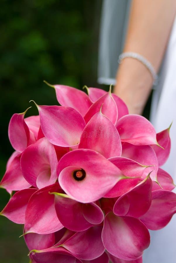 Bride flowers. Bride holding flowers cala lillies
