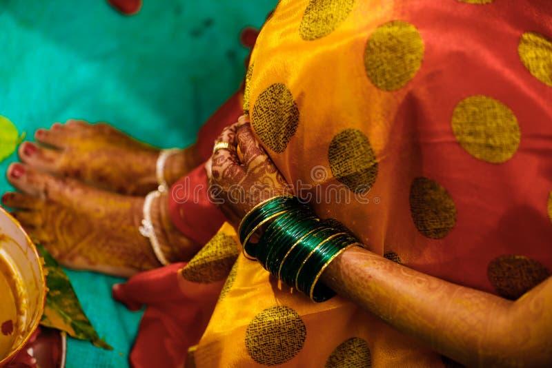 Bride foot , Indian Wedding royalty free stock photo