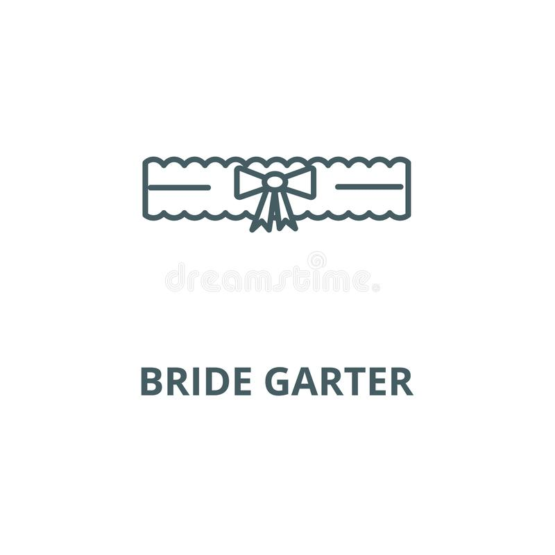 Wedding Garter Symbolism: Bride Symbol Stock Vector. Illustration Of Marry, Side