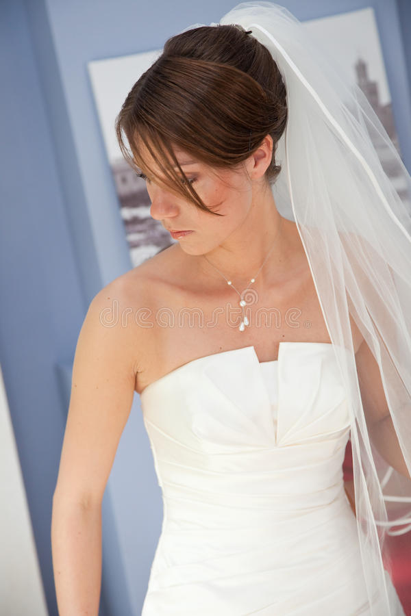 Bride getting ready stock images