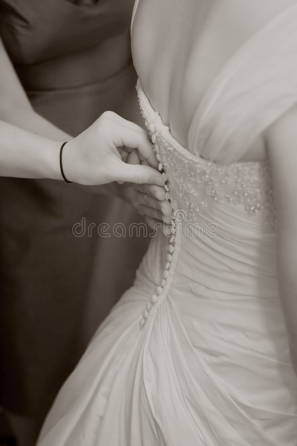 Download Bride Getting Ready stock photo. Image of gown, dress - 6855530