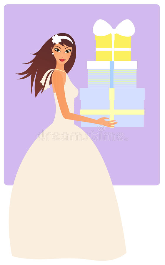 Download Bride with gifts stock illustration. Illustration of vector - 16735175