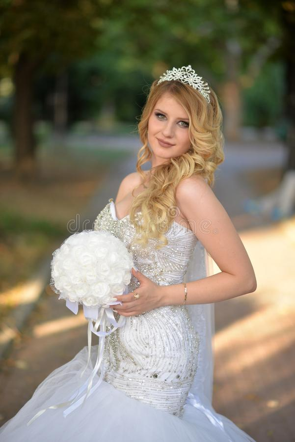 Bride, Gown, Hair, Photograph stock images