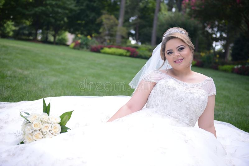 Bride, Gown, Wedding Dress, Photograph stock photo