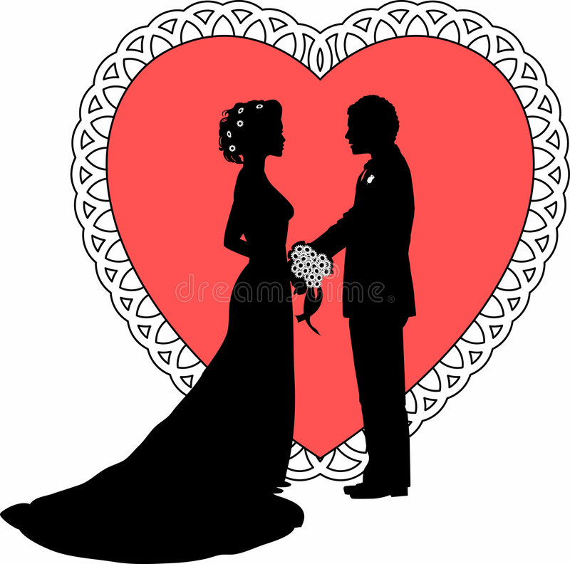 Bride_groom_02 stock de ilustración