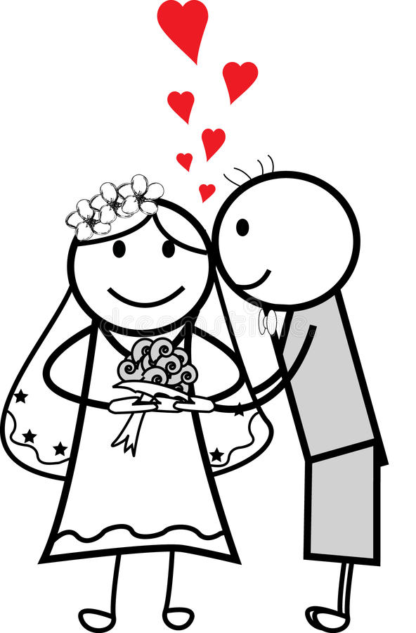 Download Bride and groom stock vector. Image of heart, background - 10943595
