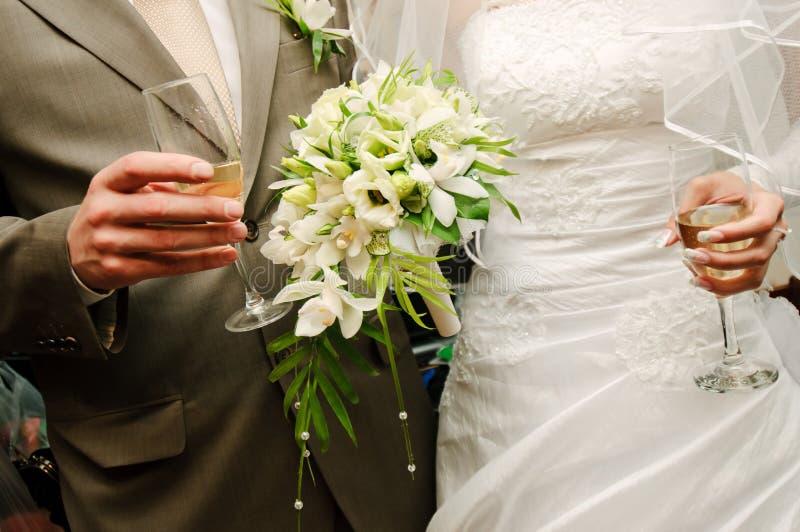 Bride & groom stock images