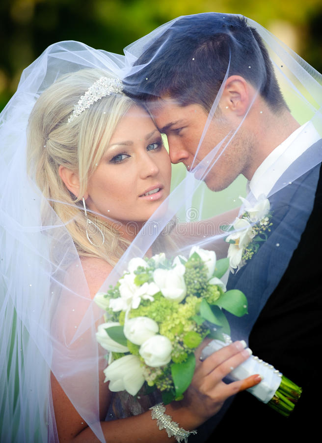 Bride and Groom. Portrait of the beautiful bride and groom
