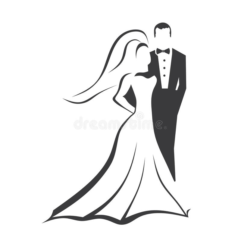 Bride and Groom. In classic pose