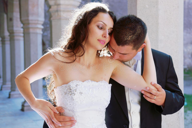 Download Bride and groom stock image. Image of touch, shoulder - 19724859