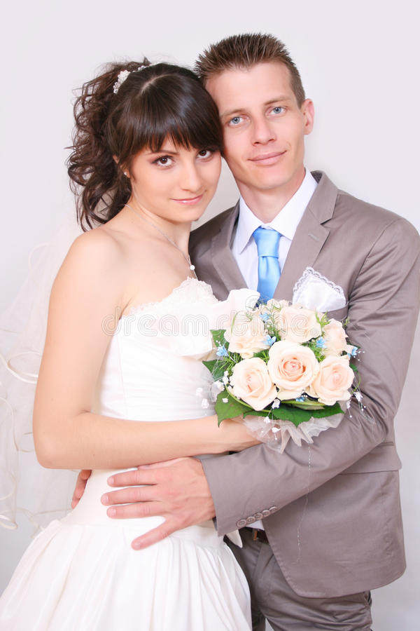 Download The bride and groom stock image. Image of young, wedding - 20312413