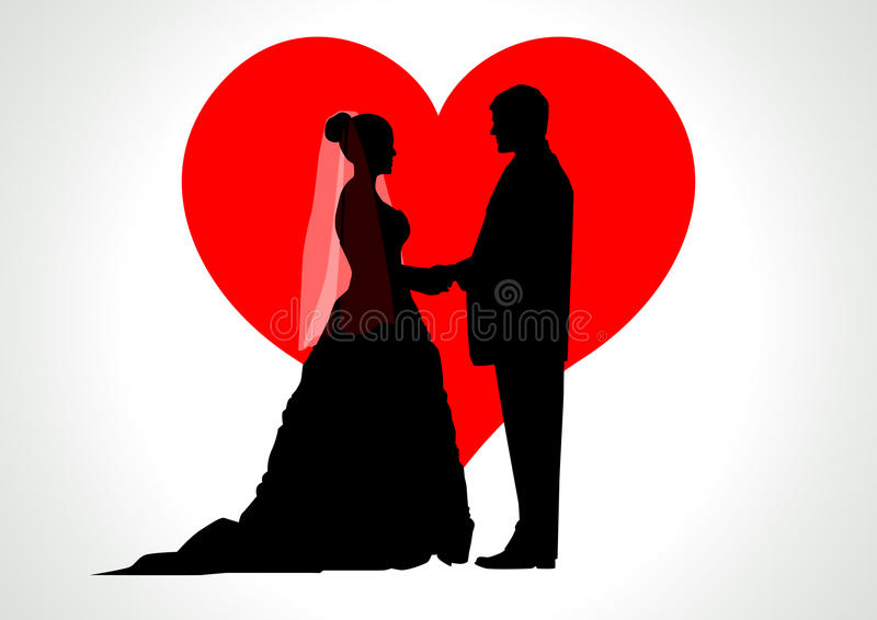 Download Bride and Groom stock vector. Illustration of holding - 23946376