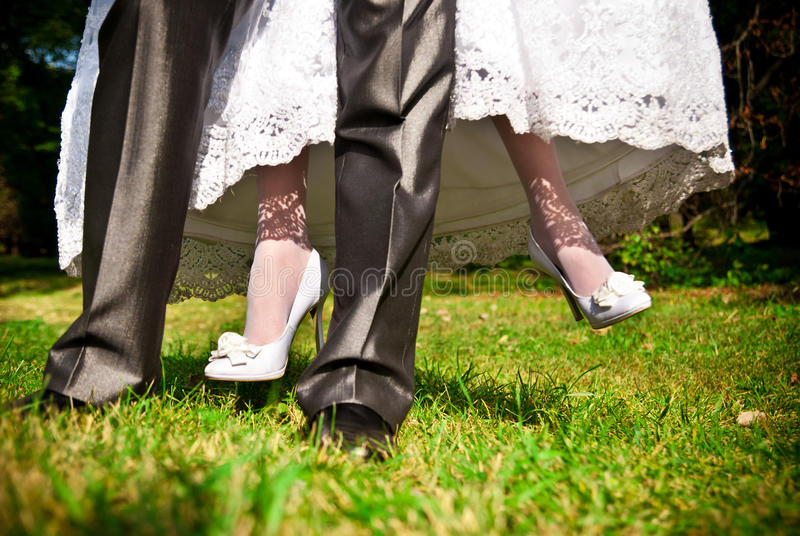 Download Bride and groom stock photo. Image of foot, people, creativity - 24878316