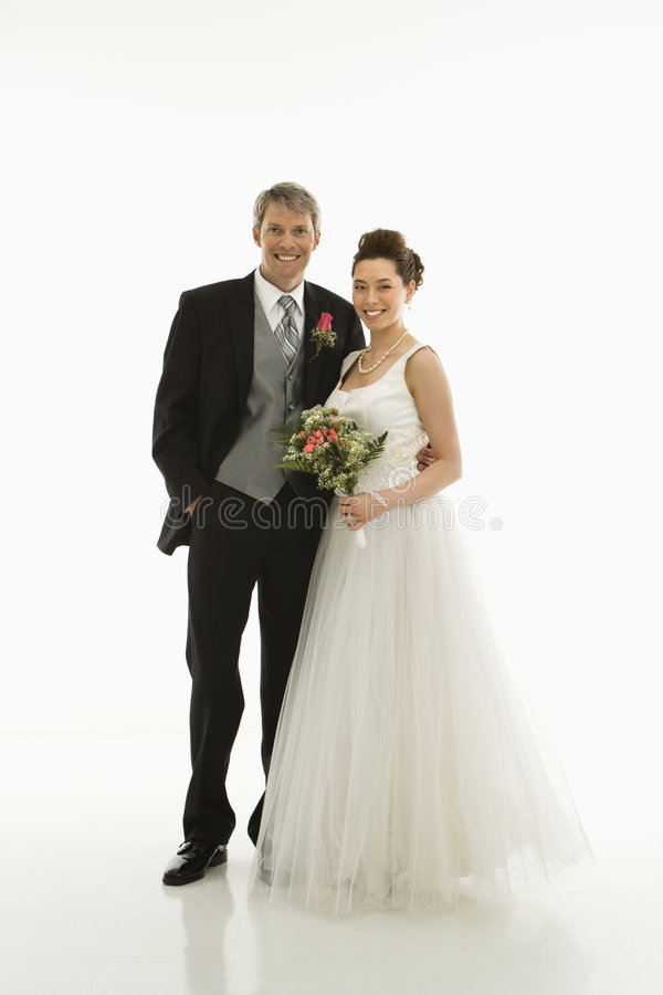 Bride and groom. royalty free stock photo