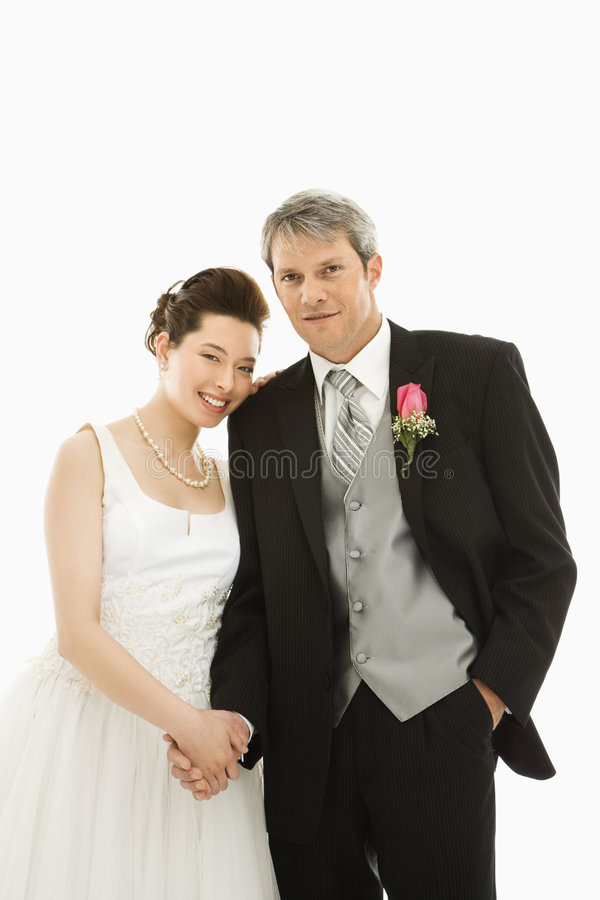 Bride and groom. stock photography