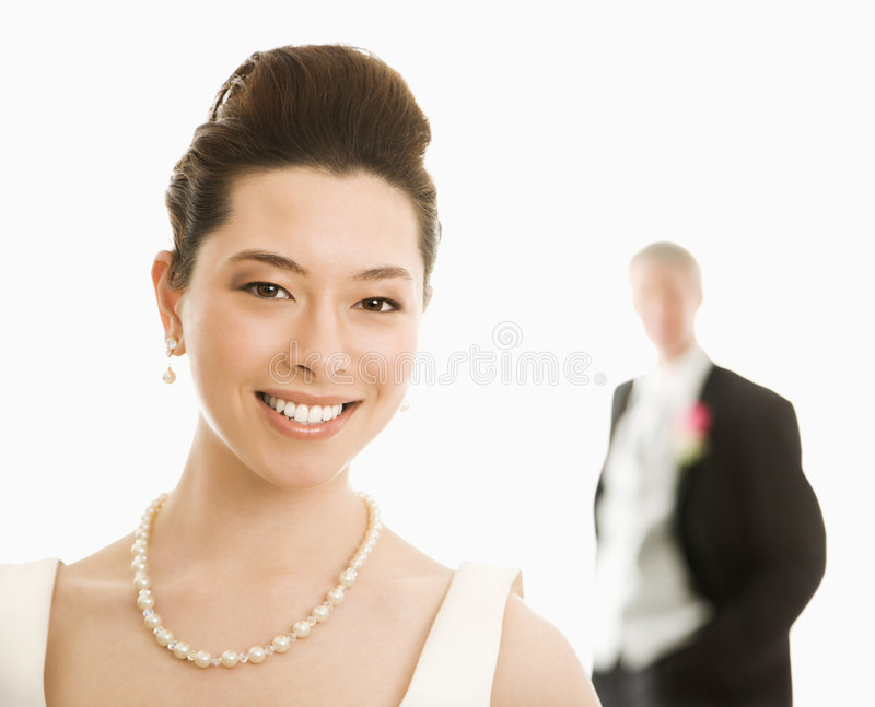 Bride and groom. stock photo