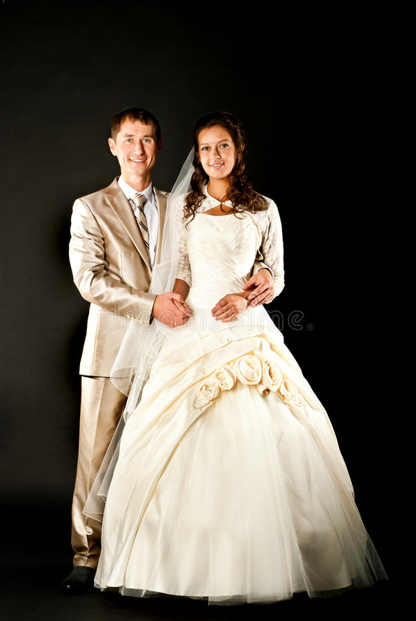 Download Bride and groom stock photo. Image of dress, beauty, curly - 26821850