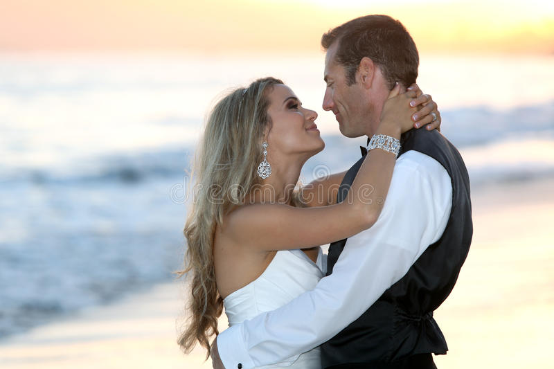 Download Bride and groom stock photo. Image of ocean, marriage - 27628154