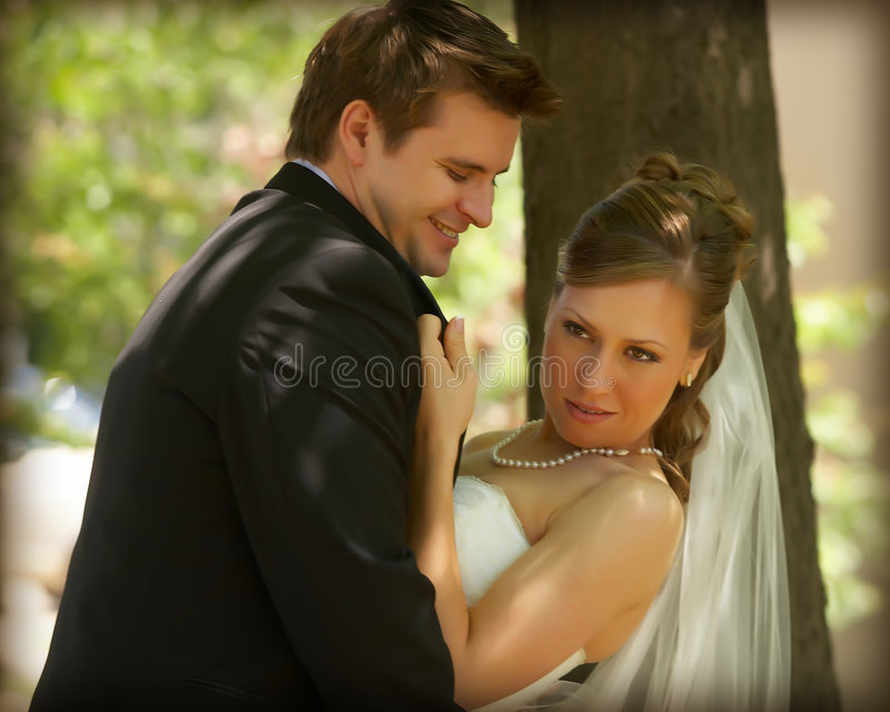 Download Bride and groom stock photo. Image of bright, romantic - 6562004