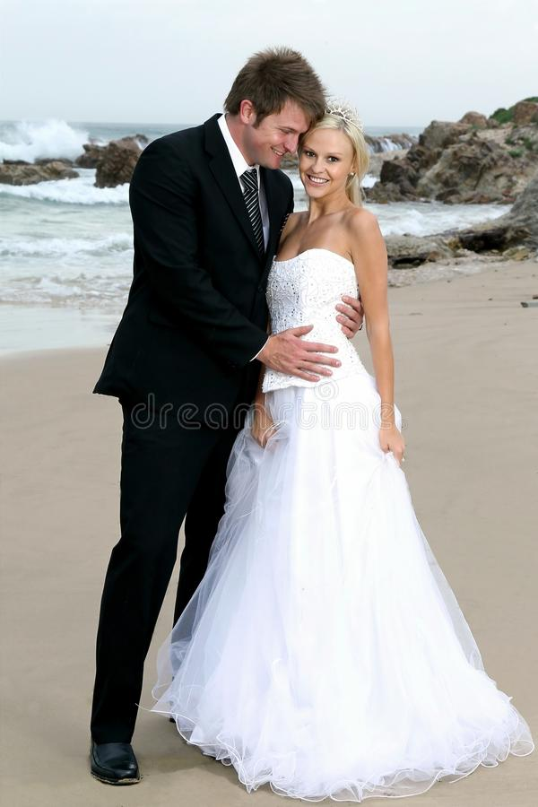 Download Bride And Groom On The Beach Stock Image - Image: 22533463