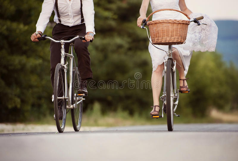 Download Bride And Groom On The Bikes Stock Photo - Image: 35897724