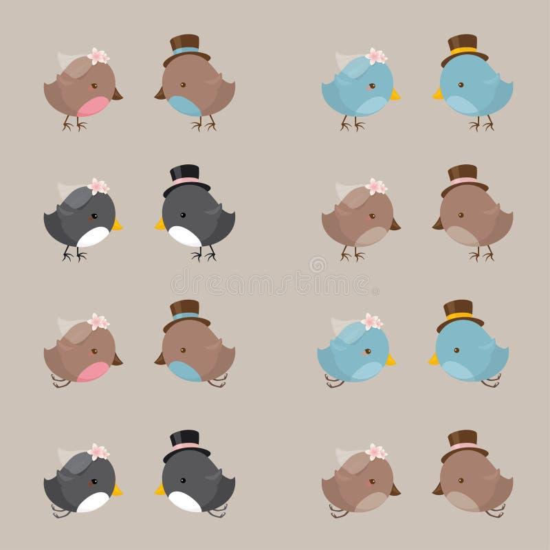 Bride and Groom Birds royalty free stock photos