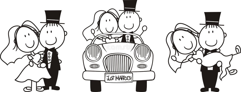 Download Bride And Groom Cartoon Set Stock Vector - Image: 20566147