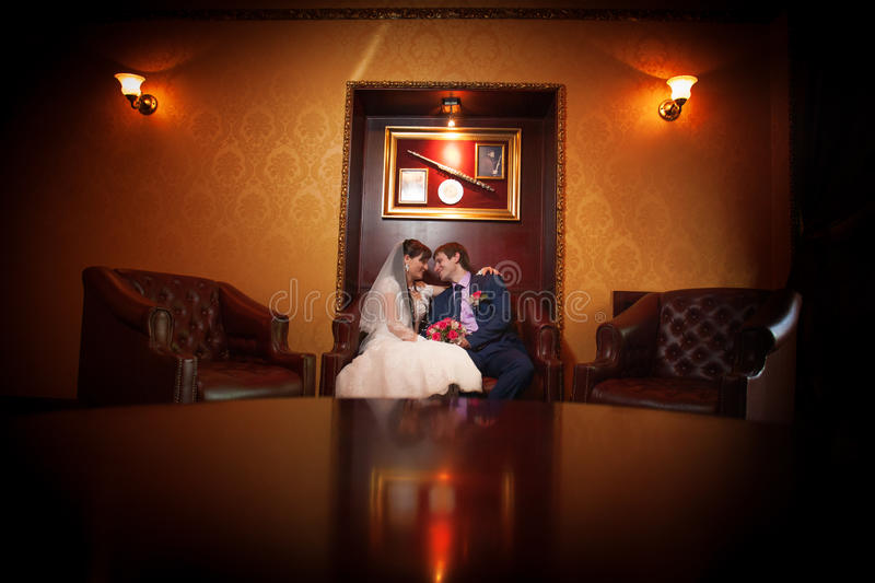Download Bride And Groom In The Classic Interior Stock Image - Image: 31767511