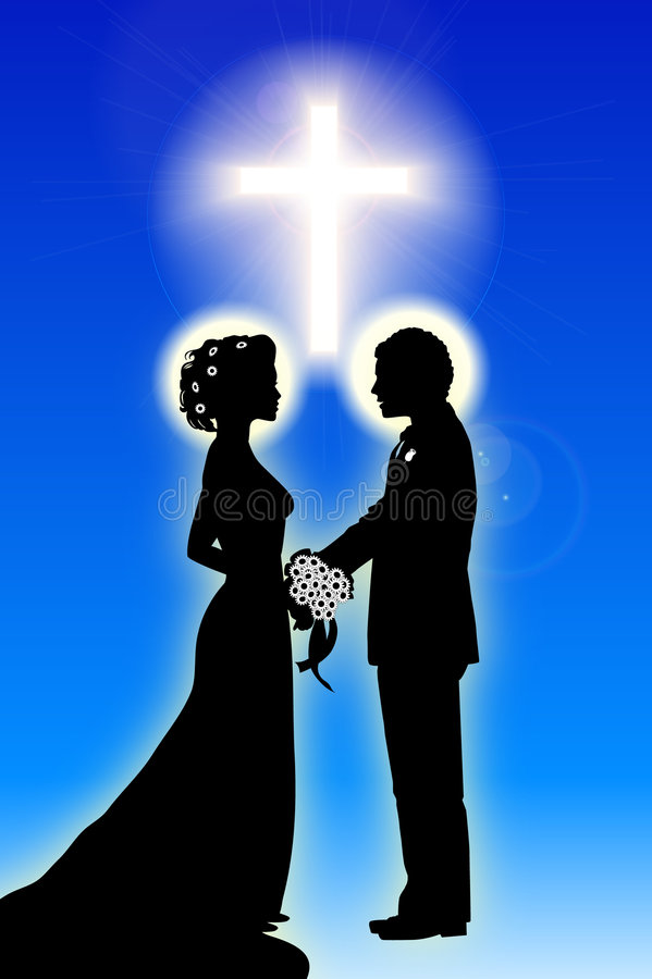 Bride_groom_Cross illustration libre de droits