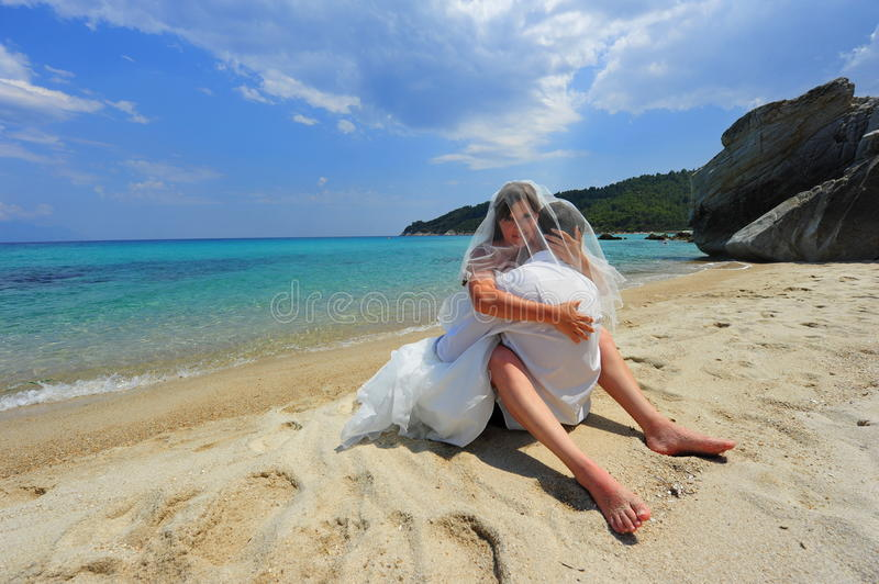 Download Bride & Groom Embrace Full Of Passion Stock Photo - Image: 20767822