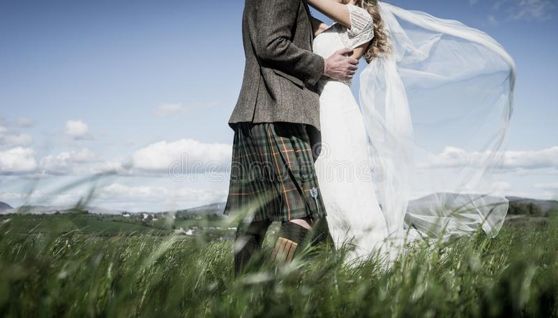 Wedding - Bride and Groom Formal royalty free stock images